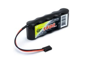 Receiver battery NiMH 6,0V 1600mAh Flat