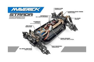 MAVERICK, STRADA RX 1/10 4WD ELECTRIC RALLY CAR