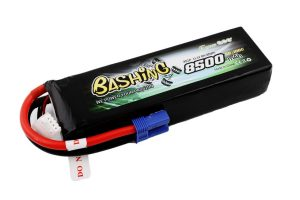Gens ace 8500mAh 11.1V 50/100C 3S1P Lipo Battery Pack with EC5 plug Bashing Series
